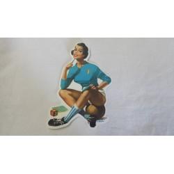 Adesivo vintage donna maglia nazionale