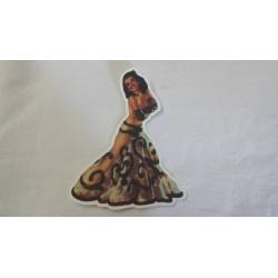 Donna vintage gonna trasparente ballerina
