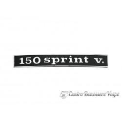 Art.Tar 031 targhetta posteriore 150 sprint v.
