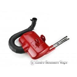 Vespa 125/150 px/pe marmitta tipo sport rossa