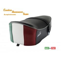 Vespa 50/90/125 primavera/et3 sella nera con tricolore