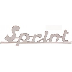 "Vespa 150 spnt targhetta anteriore ""Sprint"" corsivo"